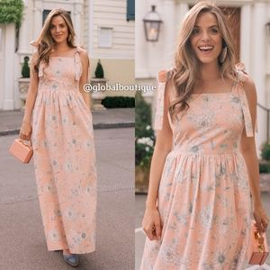Anthropologie Dresses - NWT ANTHROPOLOGIE Makenna Bow-Detail Maxi Dress